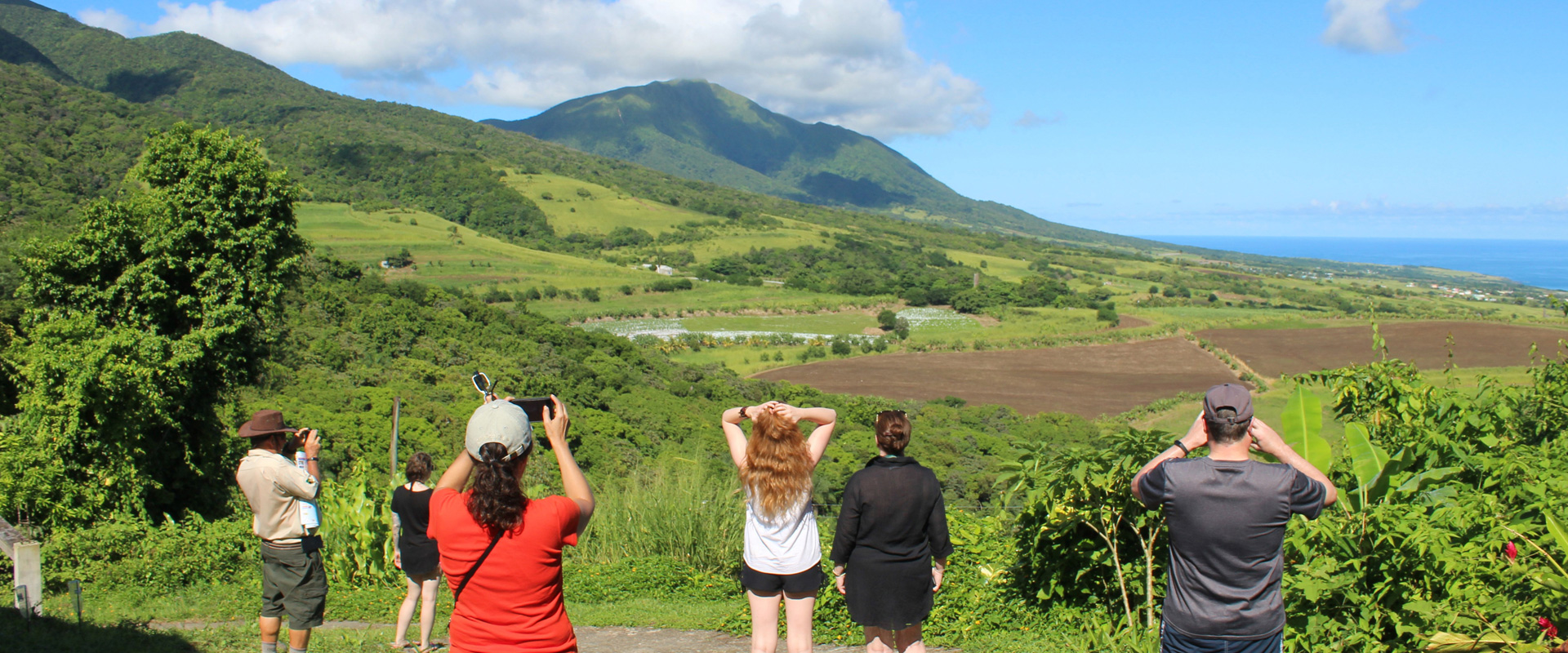 Group sightseeing on St. Kitts Nature Tour