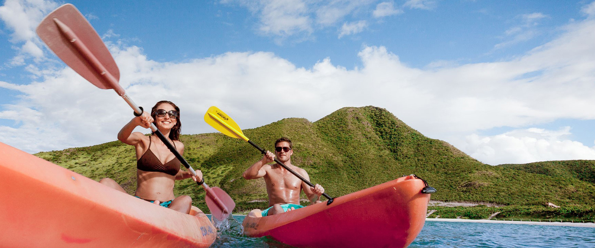 Group enjoying Kayak Tour in St. Kitts and Nevis