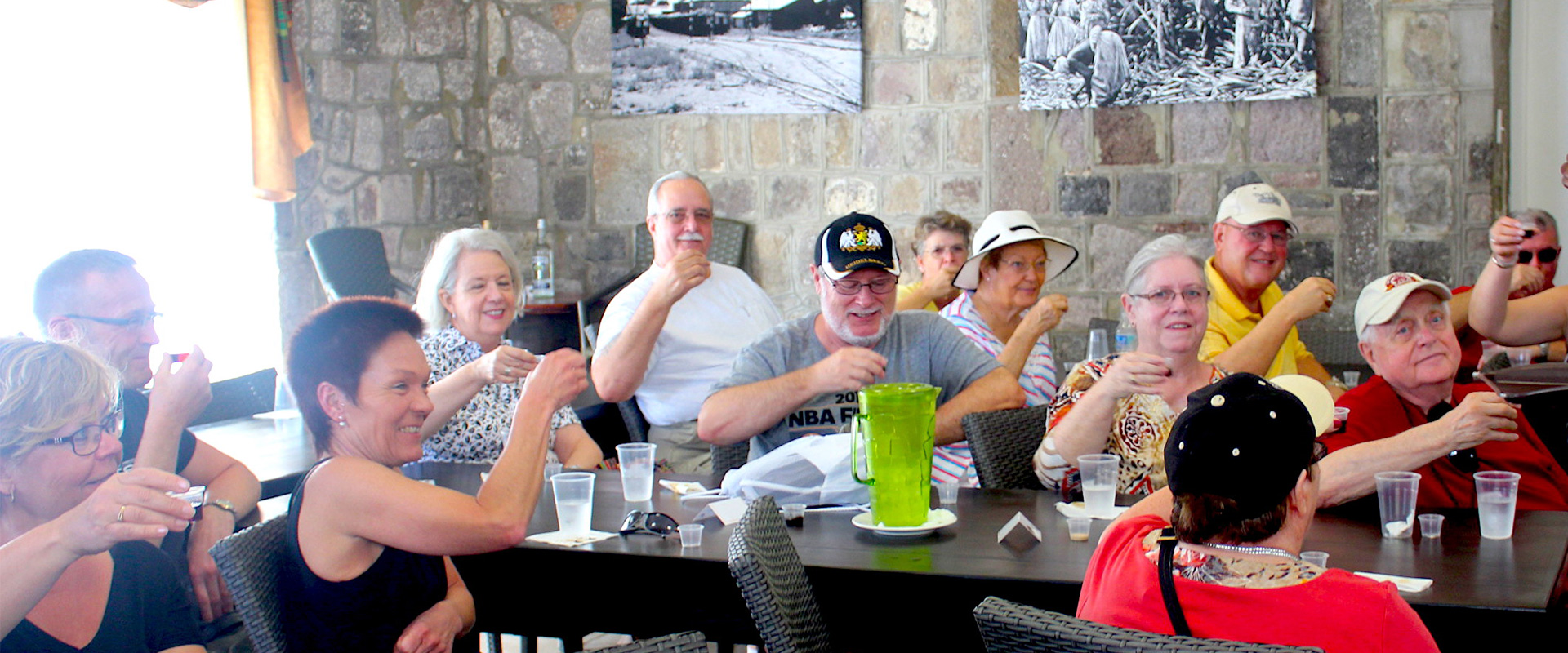 Group enjoying Rum Tasting Tour in St. Kitts
