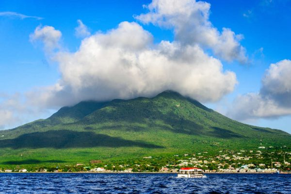 View of Nevis Peak on a Sunny Day